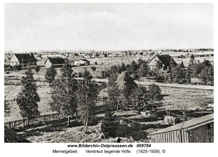 Memelgebiet, Verstreut liegende Höfe