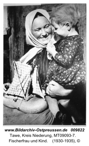 Tawe, Fischerfrau und Kind