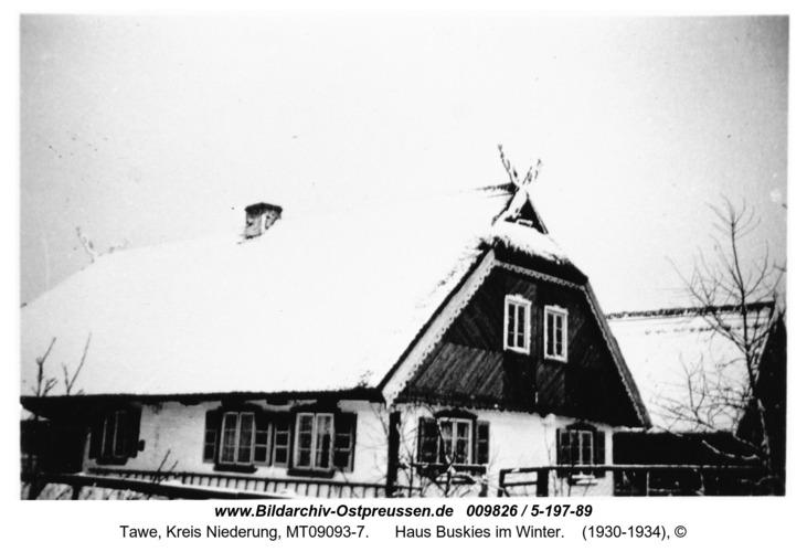 Tawe, Haus Buskies im Winter