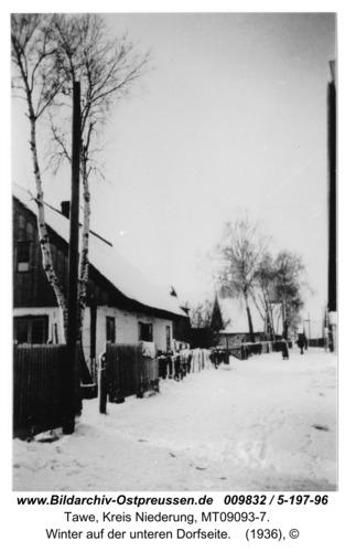 Tawe, Winter auf der unteren Dorfseite