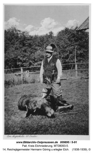 Pait, 14, Reichsjägermeister Hermann Göring u erlegter Elch