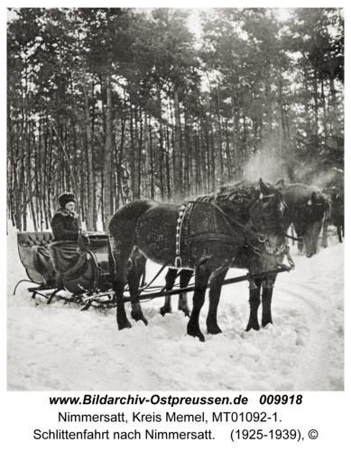 Nimmersatt, Schlittenfahrt nach Nimmersatt