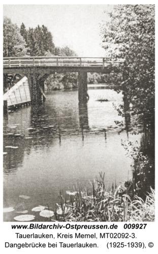 Tauerlauken, Dangebrücke bei Tauerlauken