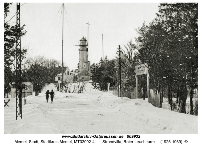 Memel, Strandvilla, Roter Leuchtturm