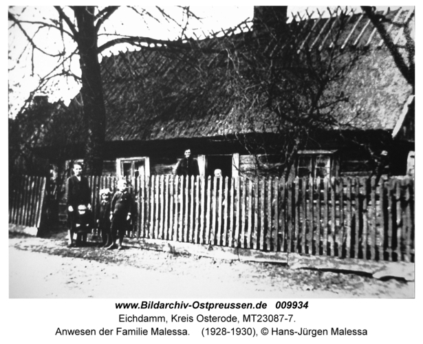 Eichdamm, Anwesen der Familie Malessa