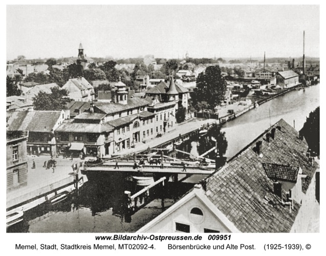 Memel, Börsenbrücke und Alte Post