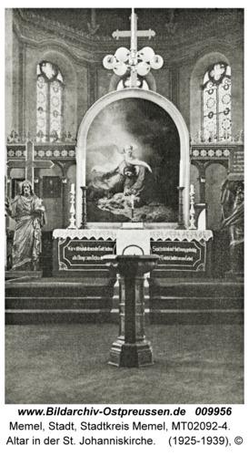 Memel, Altar in der St. Johanniskirche