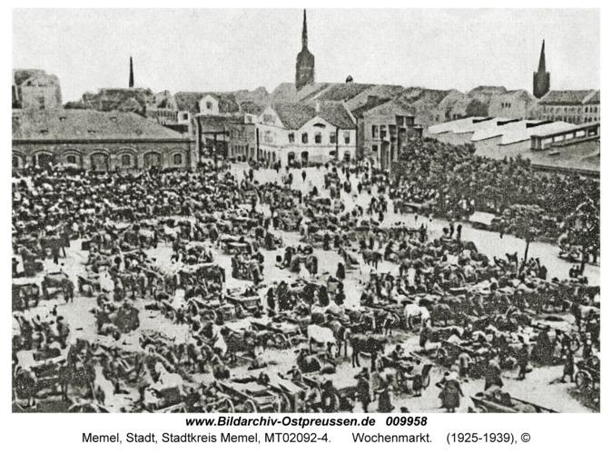 Memel, Wochenmarkt