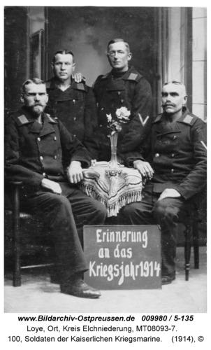 Loye, 100, Soldaten der Kaiserlichen Kriegsmarine