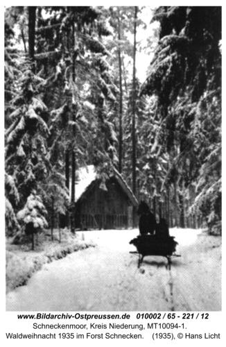Schneckenmoor, Waldweihnacht 1935 im Forst Schnecken