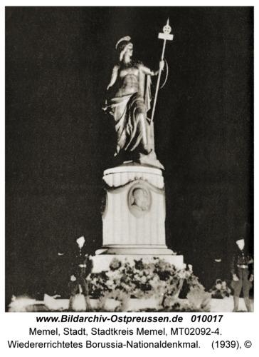 Memel, Wiedererrichtetes Borussia-Nationaldenkmal