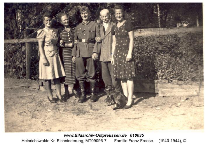 Heinrichswalde, Familie Franz Froese
