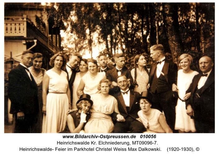 Heinrichswalde- Feier im Parkhotel Christel Weiss Max Dalkowski