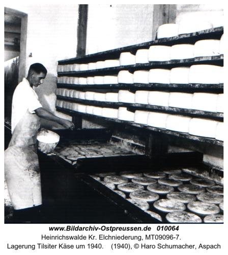 Heinrichswalde, Lagerung Tilsiter Käse um 1940