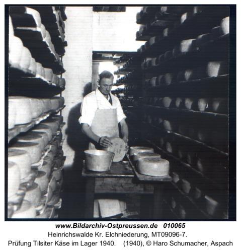 Heinrichswalde, Prüfung Tilsiter Käse im Lager 1940