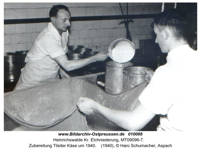 Heinrichswalde, Zubereitung Tilsiter Käse um 1940