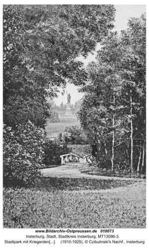Insterburg, Stadtpark mit Kriegerdenkmal