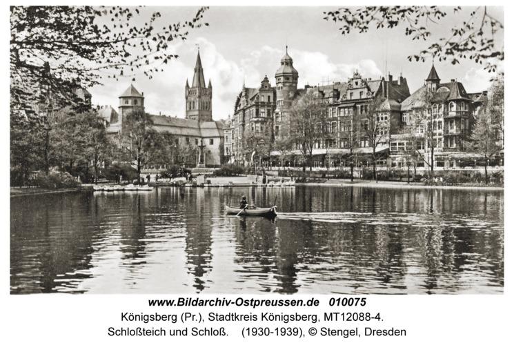 Königsberg (Pr.), Schlossteich und Schloss