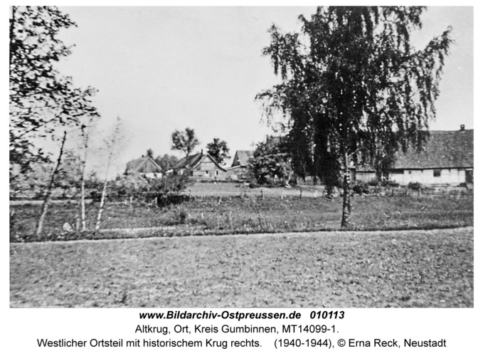 Altkrug, Westlicher Ortsteil mit historischem Krug rechts