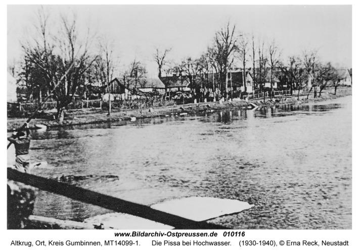 Altkrug, Die Pissa bei Hochwasser