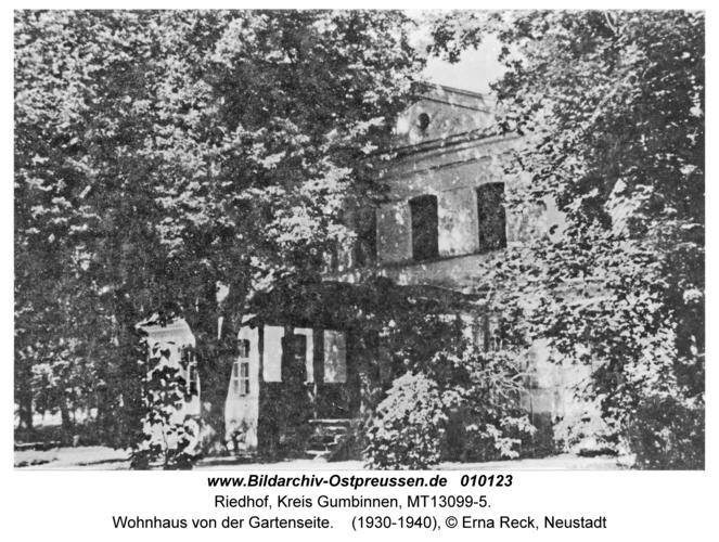 Riedhof, Wohnhaus von der Gartenseite