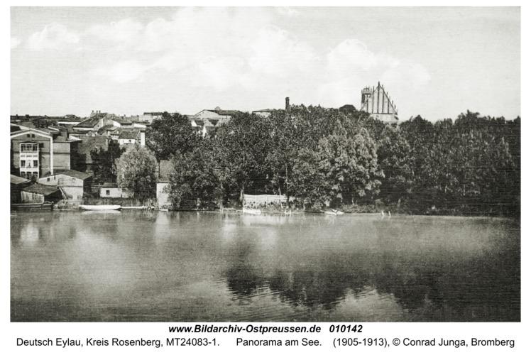 Deutsch Eylau, Panorama am See