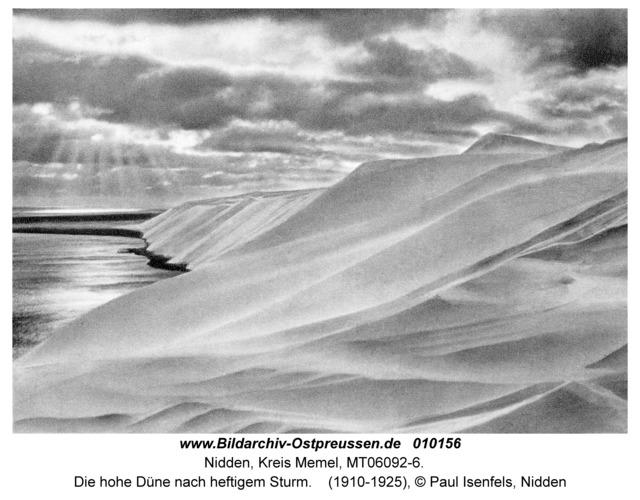 Nidden, Die hohe Düne nach heftigem Sturm