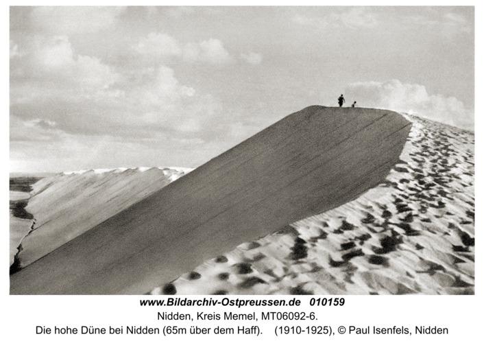 Nidden, Die hohe Düne bei Nidden (65m über dem Haff)