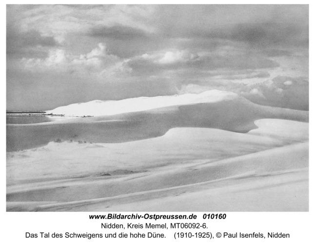 Nidden, Das Tal des Schweigens und die hohe Düne