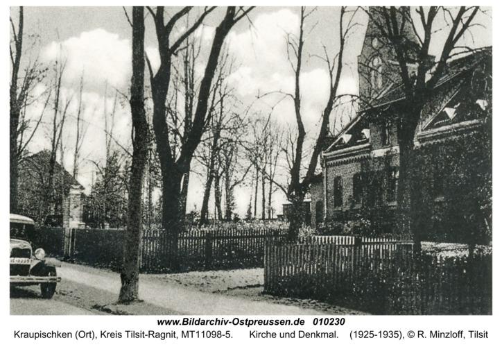 Breitenstein, Kirche und Denkmal