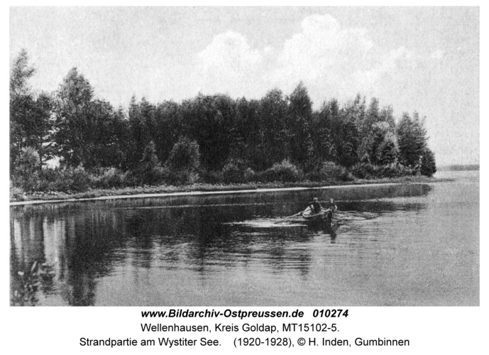 Wellenhausen, Strandpartie am Wystiter See
