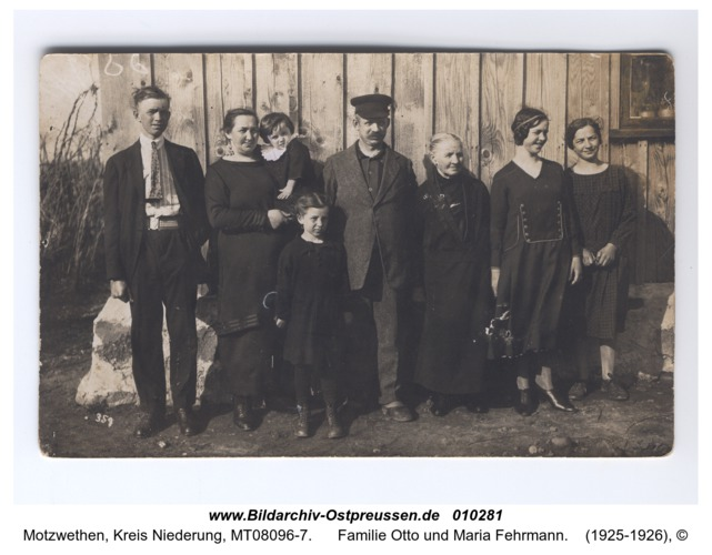 Motzwethen, Familie Otto und Maria Fehrmann