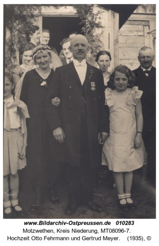 Motzwethen, Hochzeit Otto Fehrmann und Gertrud Meyer