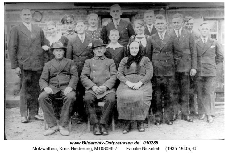 Motzwethen, Familie Nickeleit