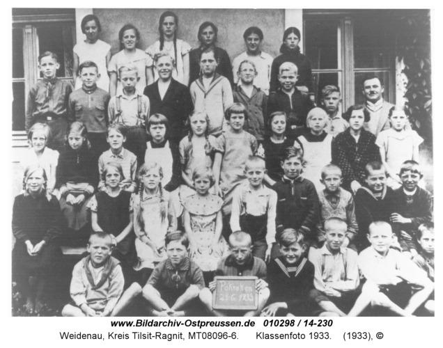Weidenau ( Pokraken ), Klassenfoto 1933