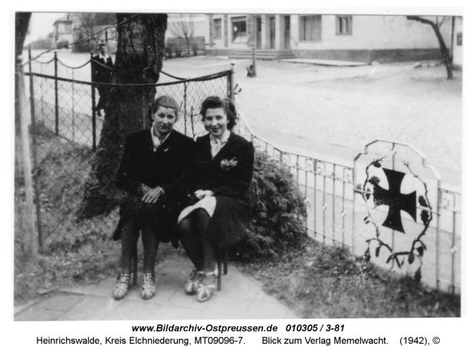 Heinrichswalde, Blick zum Verlag Memelwacht