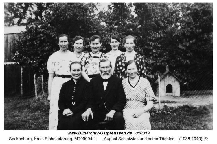 Seckenburg, August Schleiwies und seine Töchter