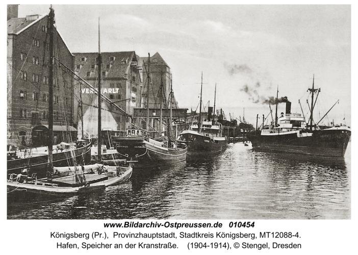 Königsberg, Hafen, Speicher an der Kranstr.