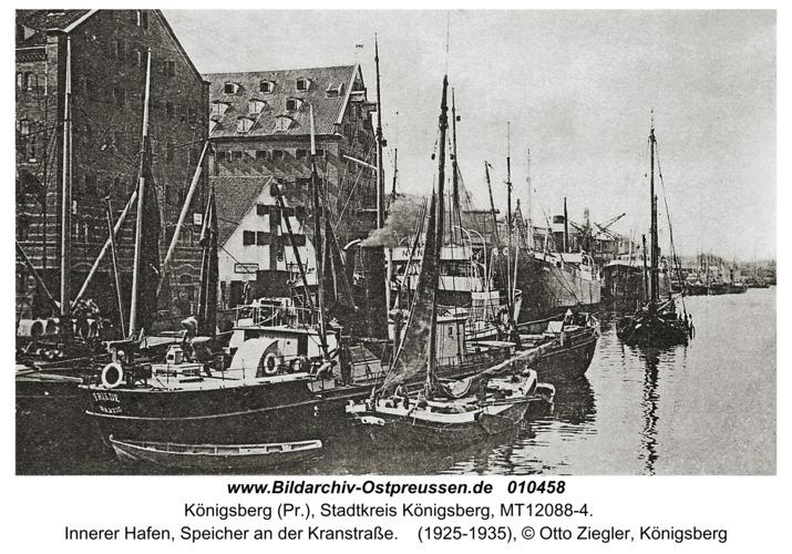 Königsberg, Innerer Hafen, Speicher an der Kranstraße