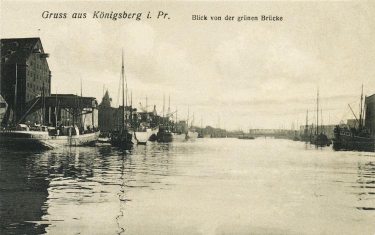 Königsberg, Innenhafen, Blick von der grünen Brücke