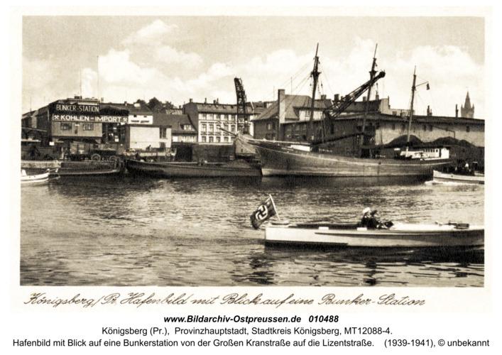 Königsberg, Hafenbild mit Blick auf eine Bunkerstation