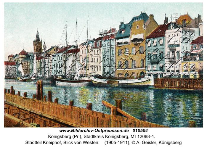Königsberg, Stadtteil Kneiphof, Blick von Westen