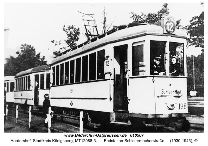Hardershof, Endstation-Schleiermacherstraße