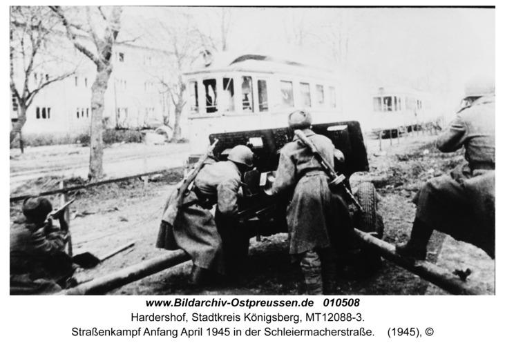 Hardershof, Straßenkampf Anfang April 1945 in der Schleiermacherstraße