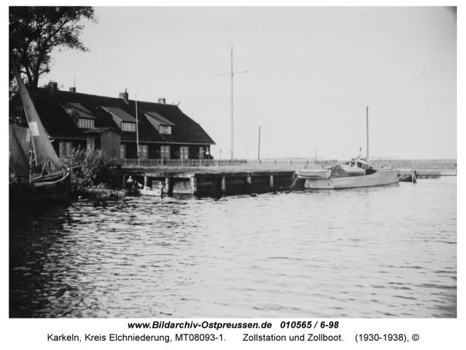 Karkeln, Zollstation und Zollboot