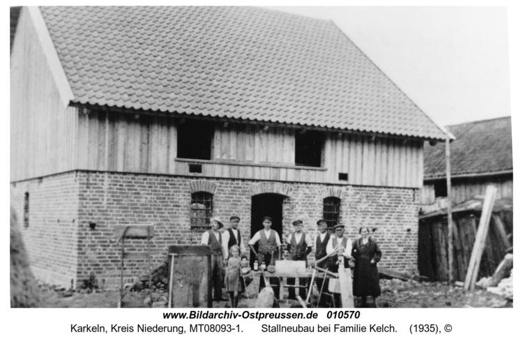 Karkeln, Stallneubau bei Familie Kelch