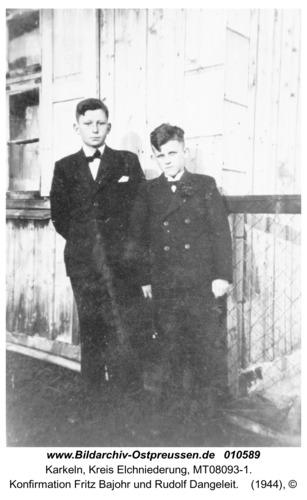 Karkeln, Konfirmation Fritz Bajohr und Rudolf Dangeleit