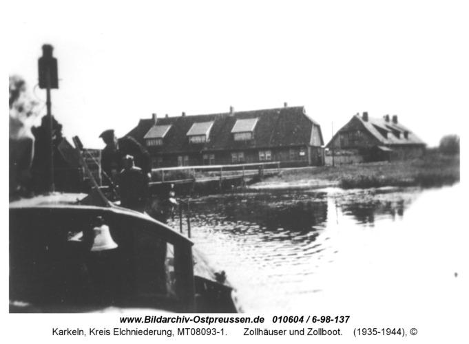 Karkeln, Zollhäuser und Zollboot