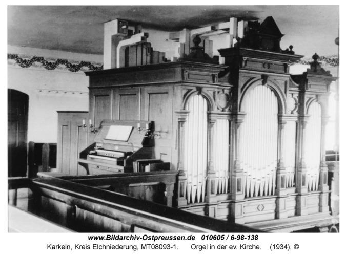 Karkeln, Orgel in der ev. Kirche