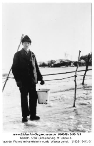Karkeln, aus der Wuhne im Karkelstrom wurde Wasser geholt